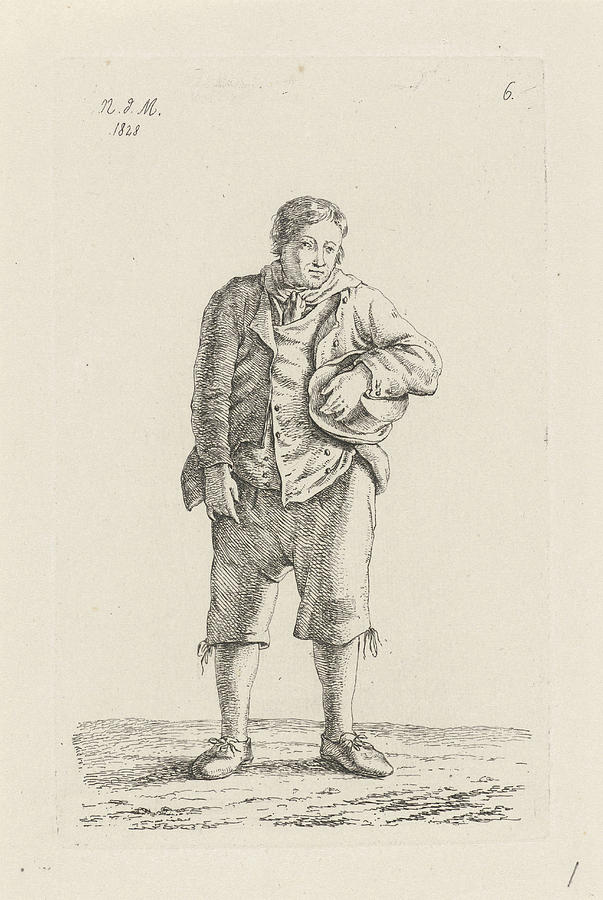 1828 Drawing - Farmer From Mechelen Malines Belgium, Anthonie Willem by Quint Lox