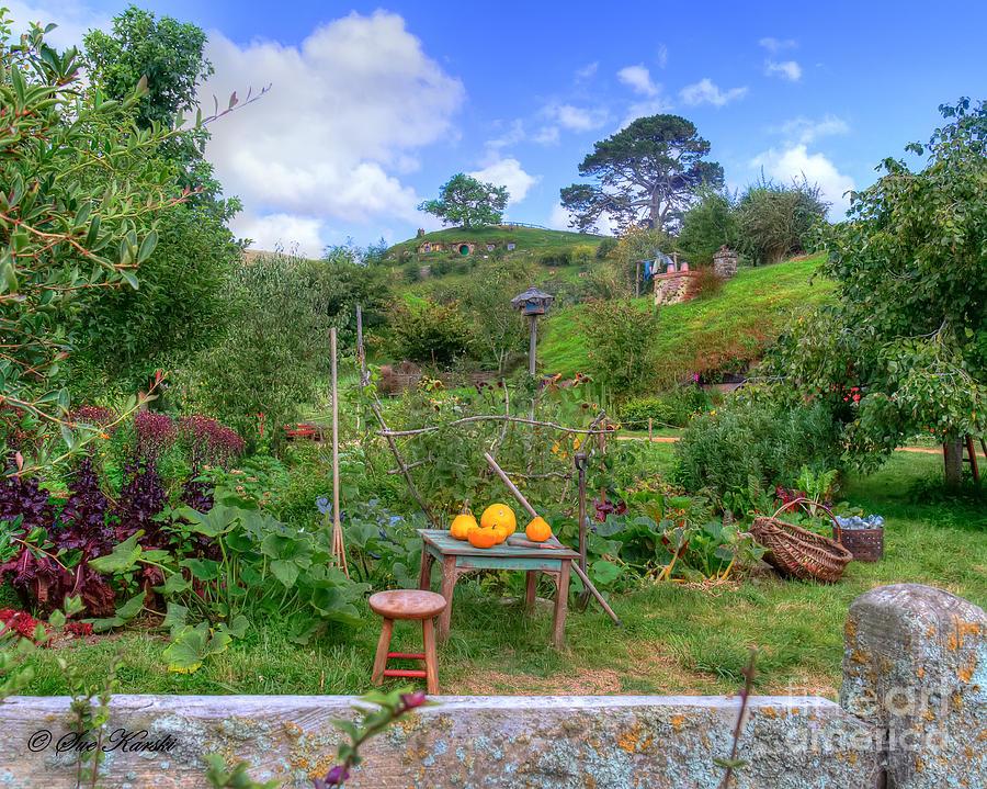 Hobbit Holes Photograph - Farmer Maggot Garden by Sue Karski