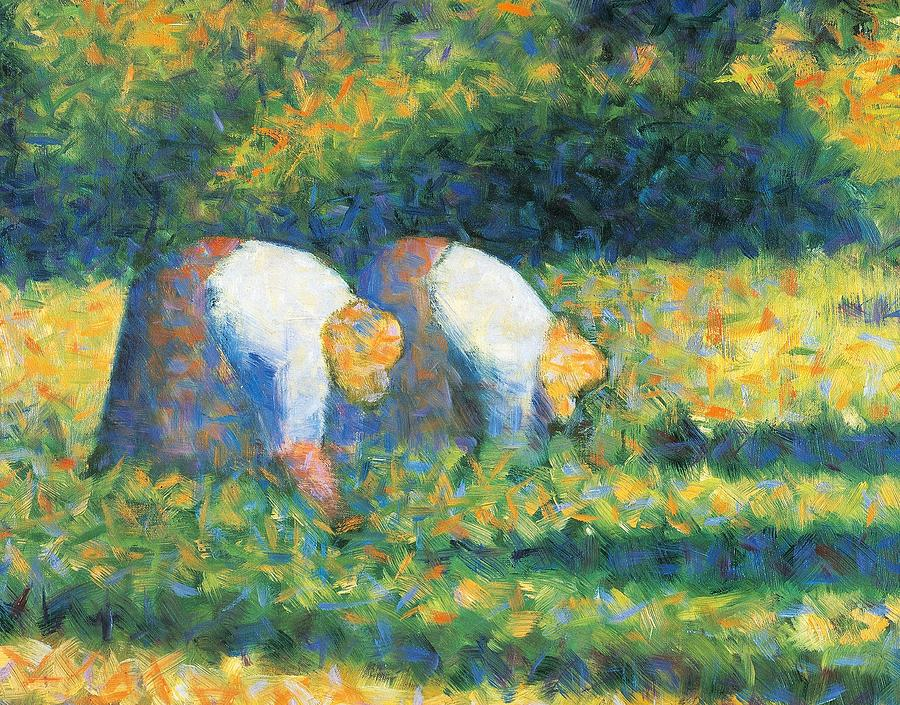 Painting Painting - Farmers At Work by Georges Seurat