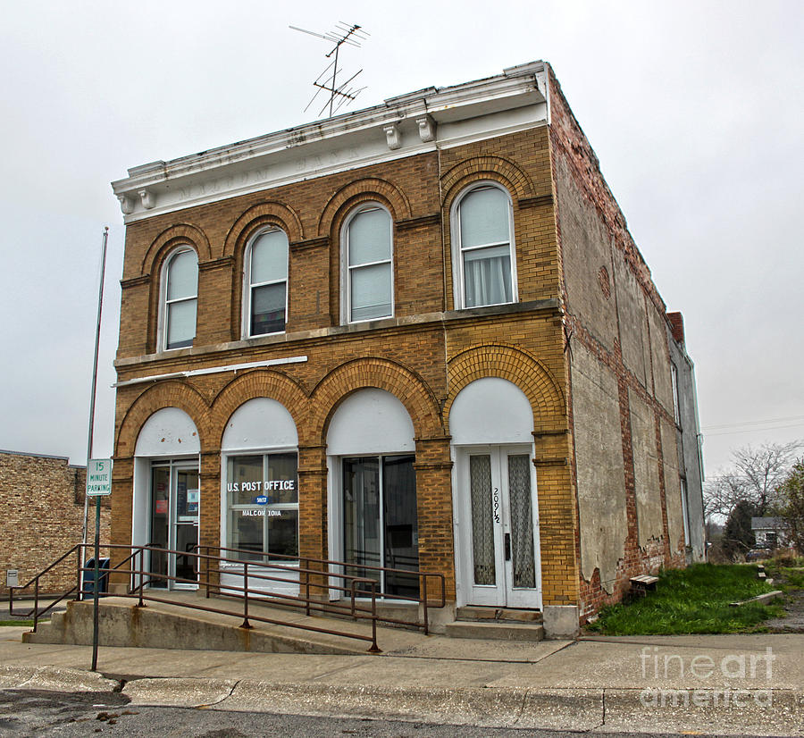 Farmers Bank Photograph - Farmers Bank - Malcolm Iowa by Gregory Dyer