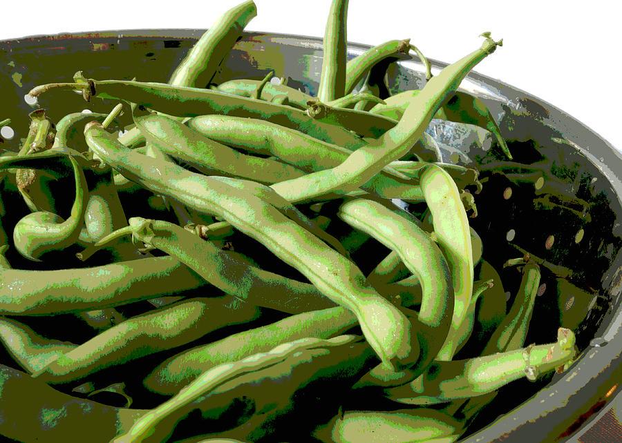 Food Photograph - Farmers Market Green Beans by Ann Powell