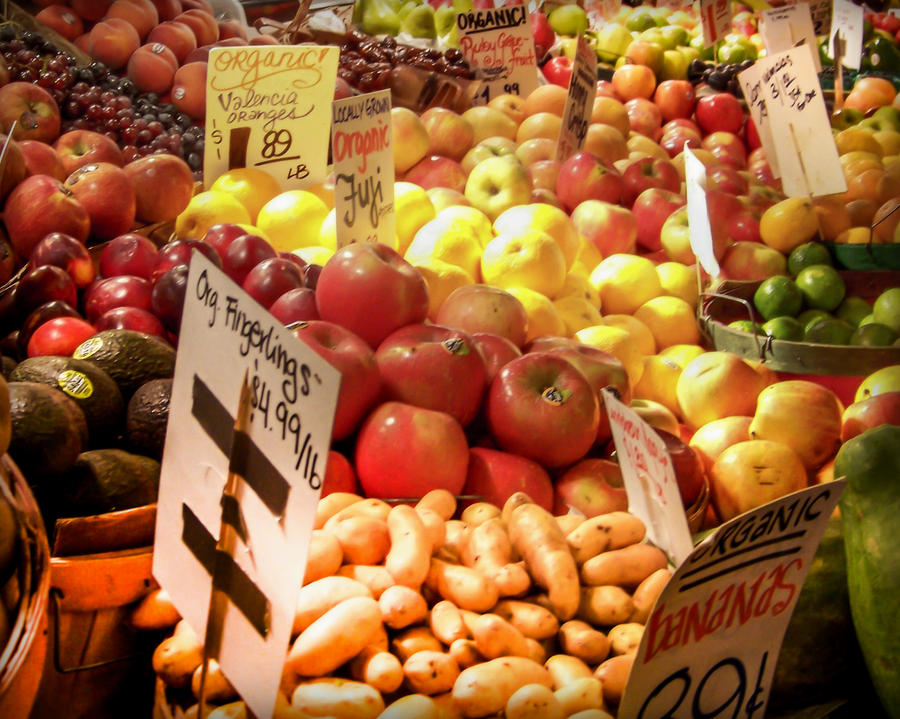 Fruits And Vegetables Photograph - Farmers Market by Karen Wiles