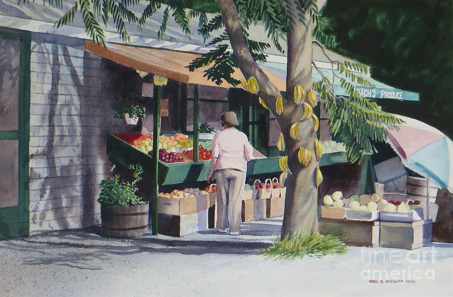 Fruits Painting - Farmers Market by Karol Wyckoff