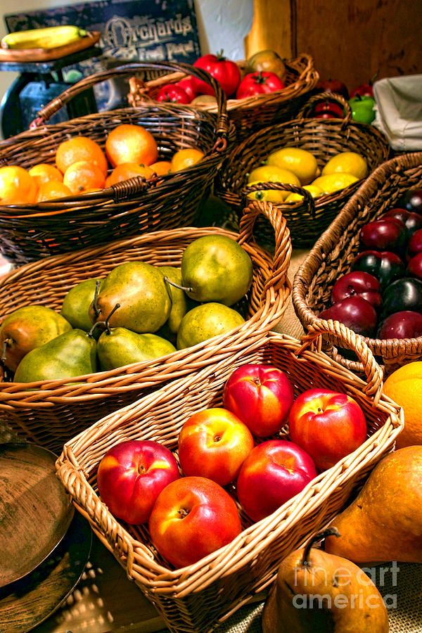 Fruits Photograph - Farmers Market by Olivier Le Queinec