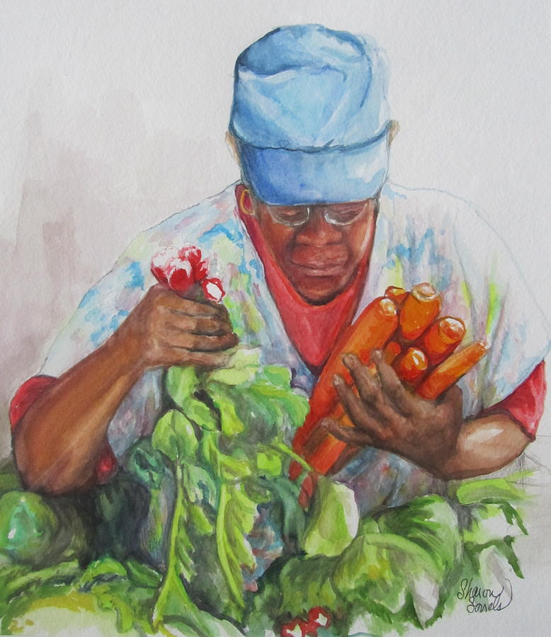Farmers Market Vendor by Sharon Sorrels