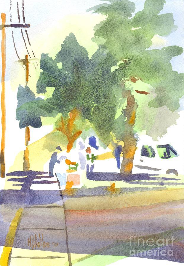Farmers Market Painting - Farmers Market Vi by Kip DeVore