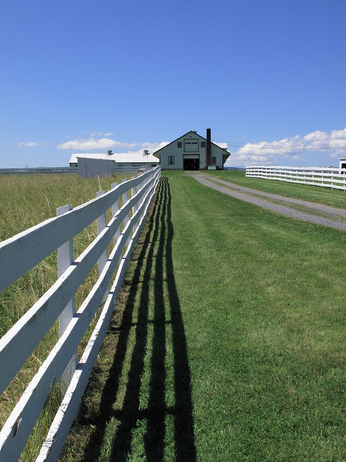 Agriculture Photograph - Farmhouse And Fence by Frank Romeo