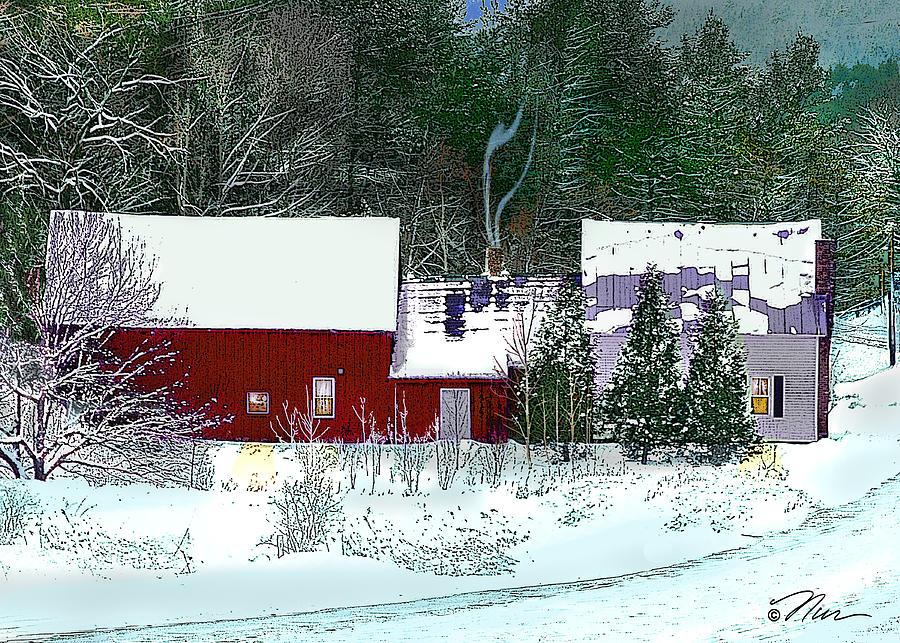 Farmhouse in Winter by Nancy Griswold