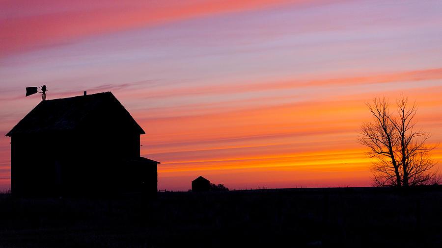 Farmhouse Silhouette Gerald Murray Photography on Farmhouse With Barn House Plans