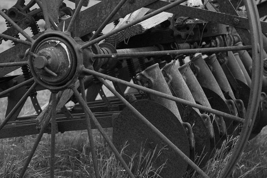 Vintage Photograph - Farming Harrow by Upekhya Palihapitiya