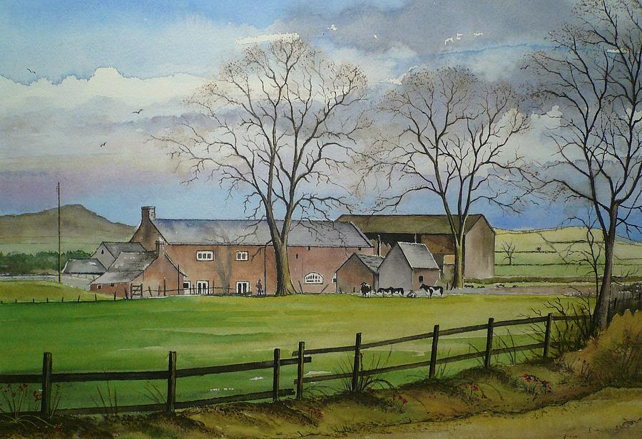 Farming Painting - Farming in the Staffordshire countryside by Andrew Read