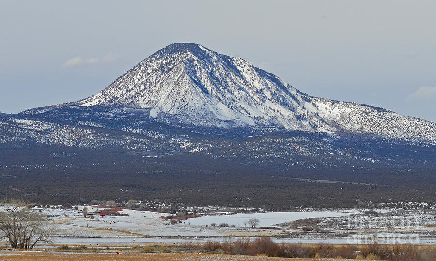 Colorado Photograph - Farmland Under The Mountain by Meandering Photography