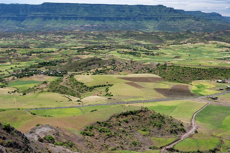 Africa Photograph - Farmlands Near Lalibela by Tony Camacho