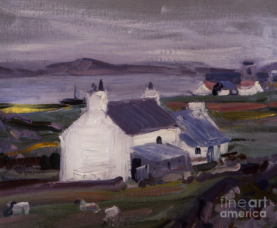 Cadell Painting - Farmsteading by Francis Campbell Boileau Cadell