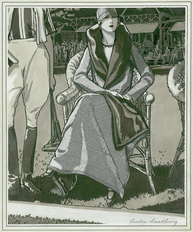 Fashion Illustration Of A Woman Digital Art by Leslie Saalburg
