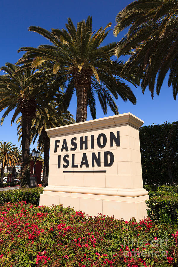 America Photograph - Fashion Island Sign In Orange County California by Paul Velgos