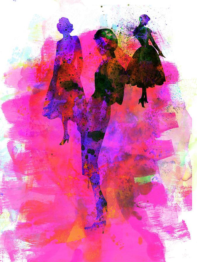 Fashion Painting - Fashion Models 1 by Naxart Studio