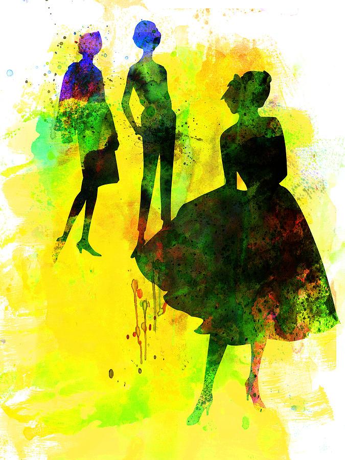 Fashion Painting - Fashion Models 2 by Naxart Studio