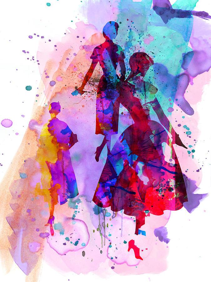 Fashion Painting - Fashion Models 6 by Naxart Studio