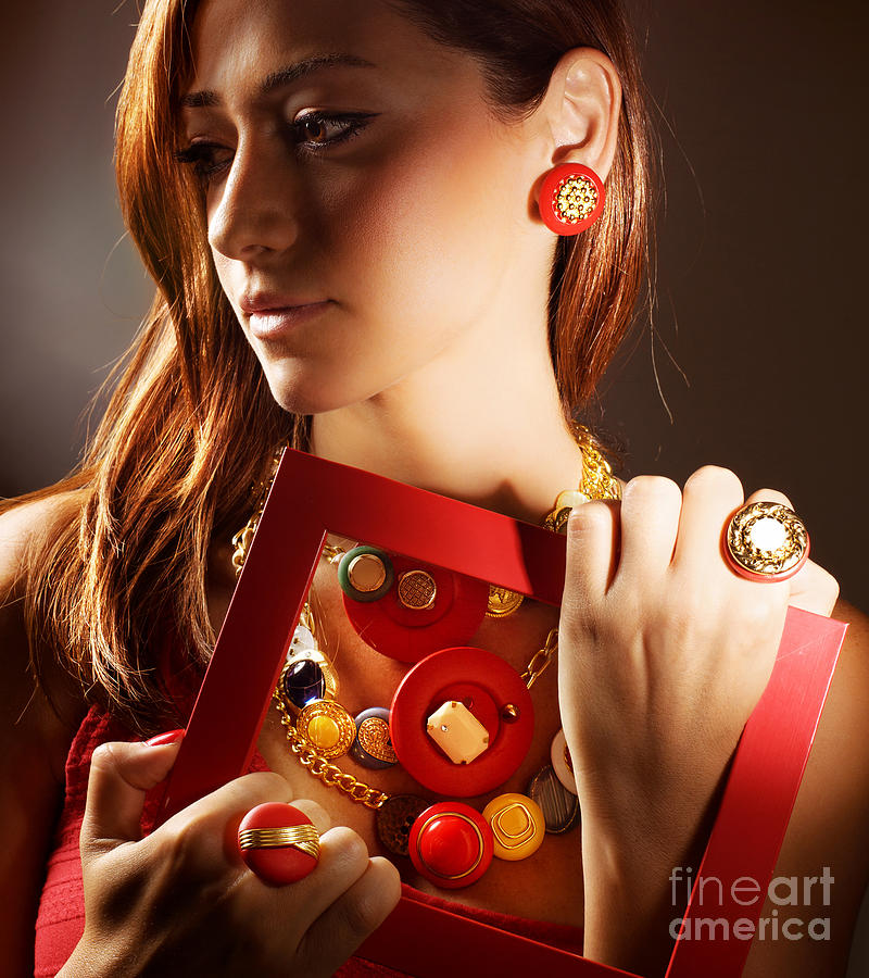 Accessories Photograph - Fashionable Girl Portrait by Anna Om
