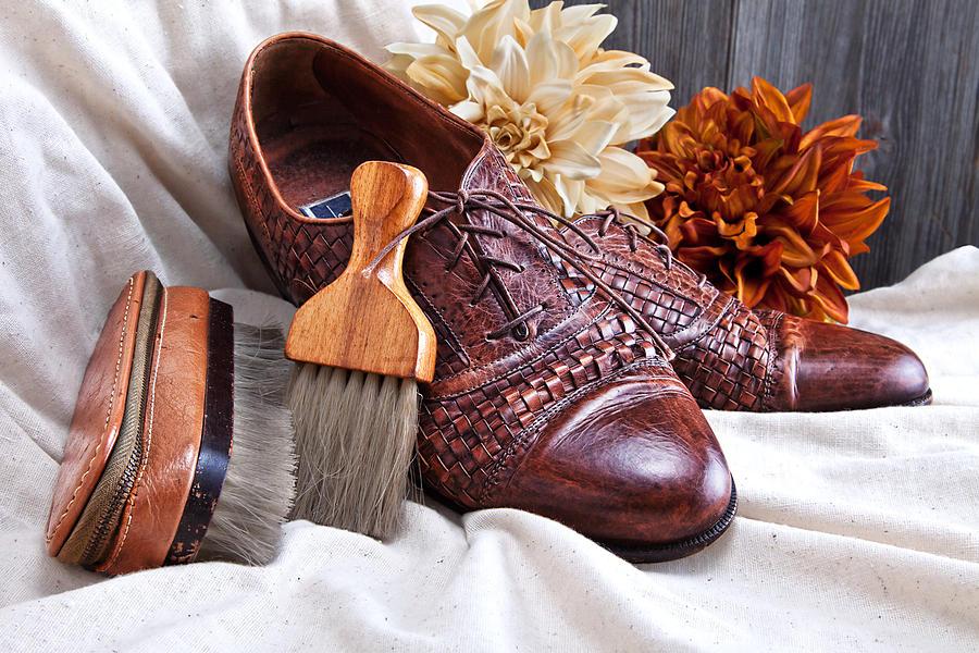 Accessories Photograph - Fashionable Italian Shoes Still Life by Tom Mc Nemar