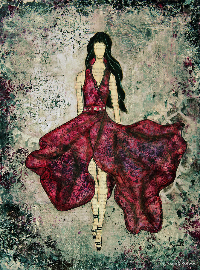 Fashionista Mixed Media Painting By Janelle Nichol Mixed