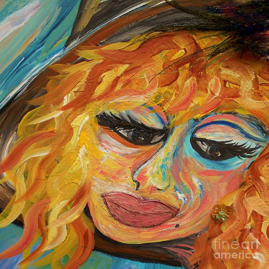 Fashion Painting - Fashionista - Mysterious Red Head by Eloise Schneider