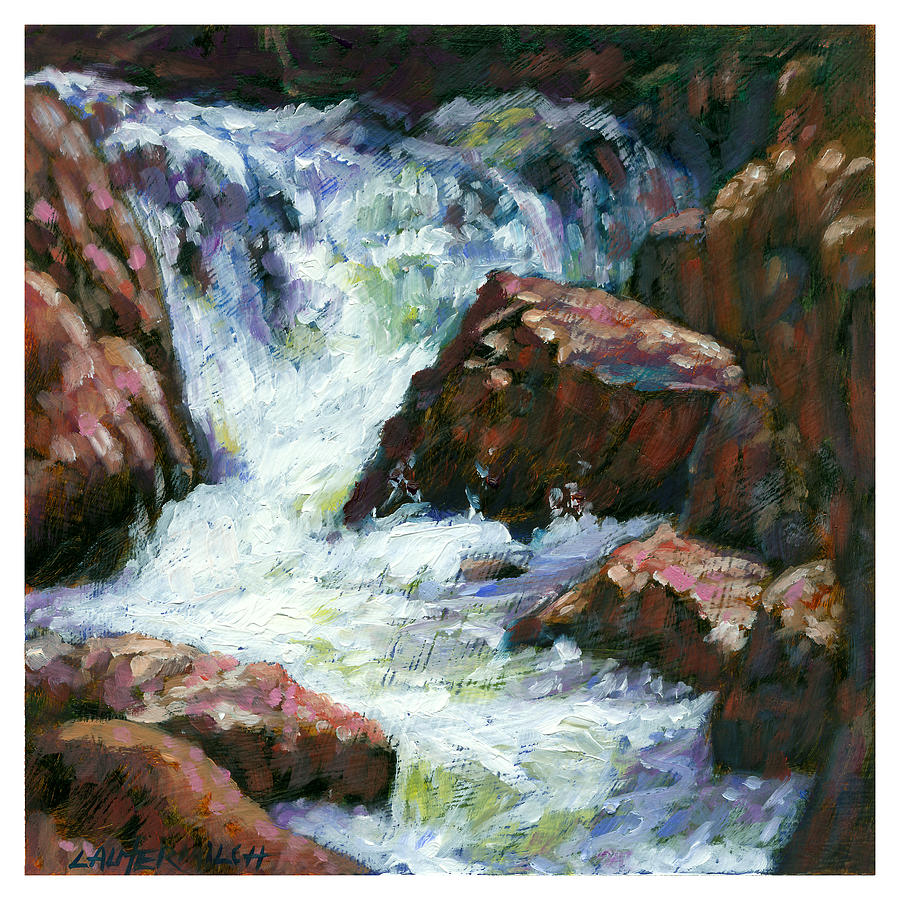 Colorado Painting - Fast Stream by John Lautermilch