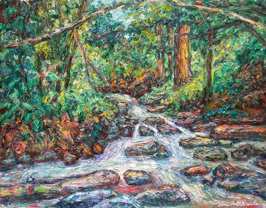 Landscape Paintings Painting - Fast Water Wildwood Park by Kendall Kessler