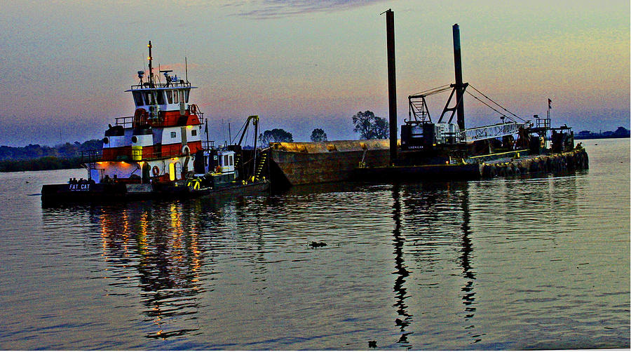 Sacramento River Delta Photograph - Fat Cat At Sunset by Joseph Coulombe