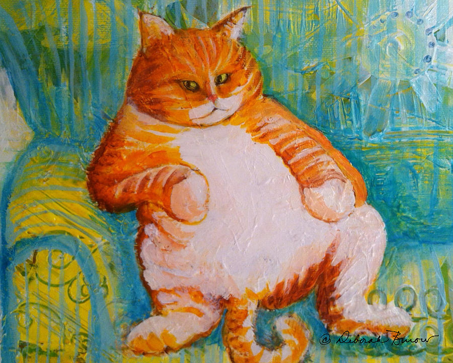 Fat Cat Painting - Fat Cat by Deborah Burow