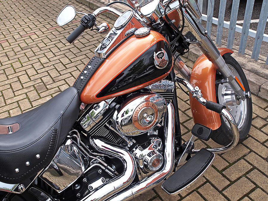 Harley Davidson Photograph - Fatboy - 96 Cubic Inches by Gill Billington