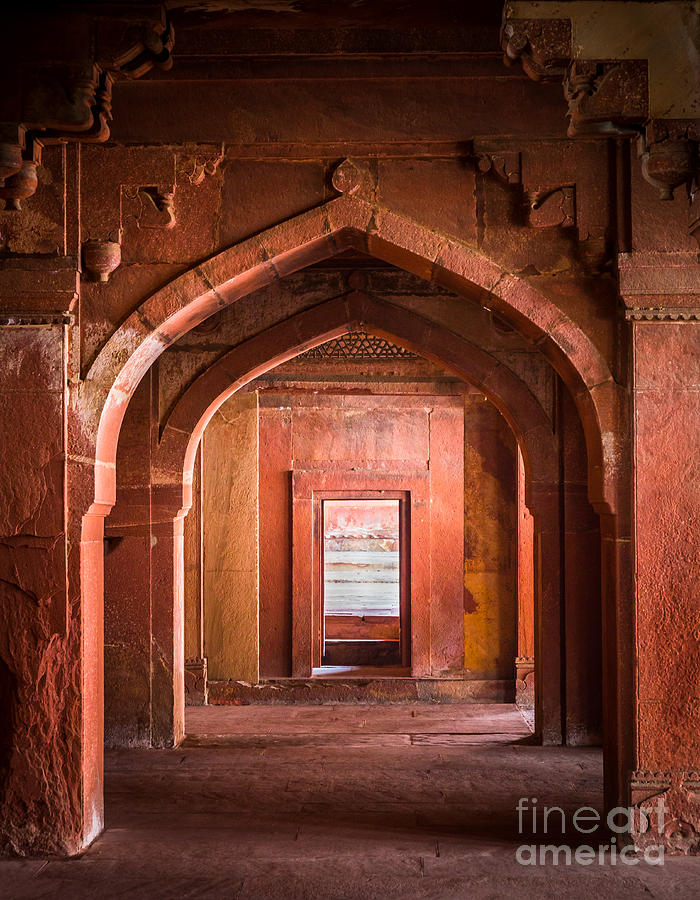 Agra Photograph - Fatehpur Sikri Entrance by Inge Johnsson