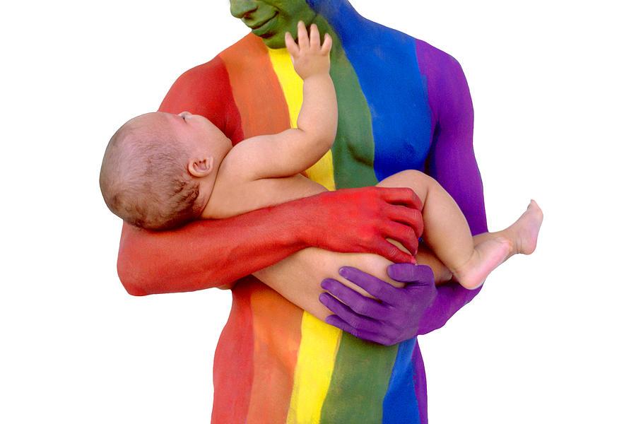 Gay Pride Photograph - Father And Child by Filippo Ioco