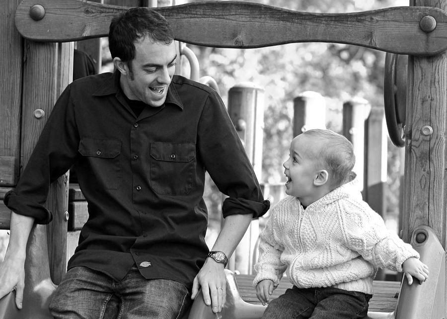 Portraits Photograph - Father And Son II by Lisa Phillips