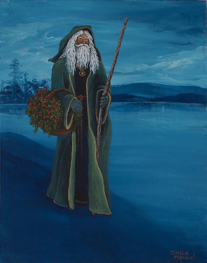 Christmas Painting - Father Christmas by Darice Machel McGuire