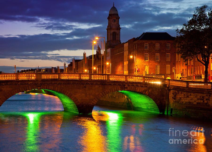 Dublin Photograph - Father Matthew Bridge by Inge Johnsson