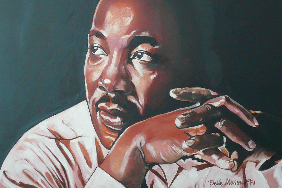 Dr. Martin Luther King Painting - Father Of Dreams by Belle Massey