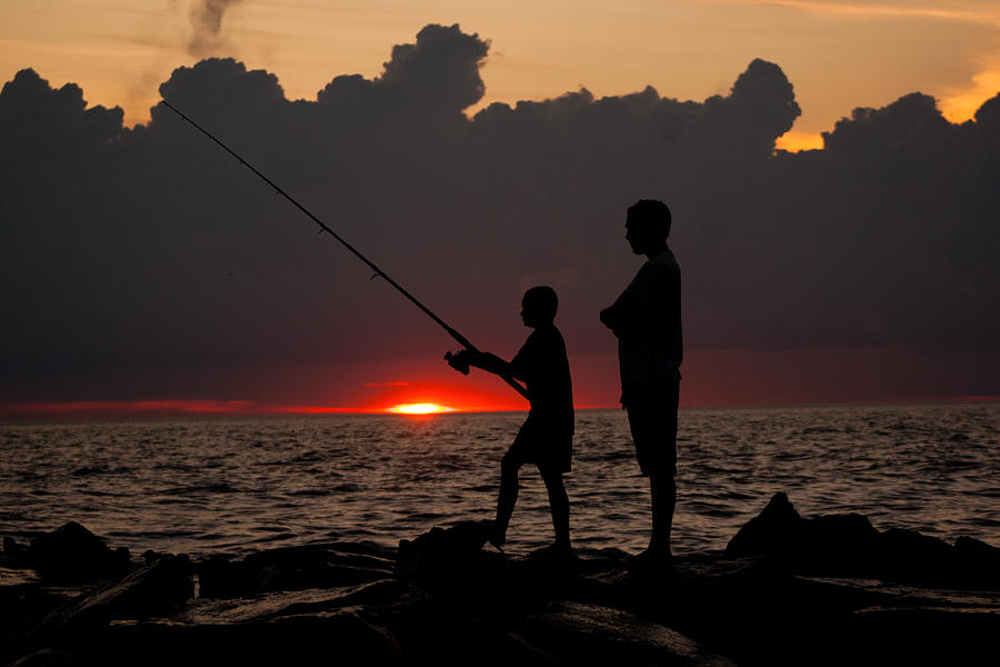 Father son fishing photograph by joe dormer for Father son fishing