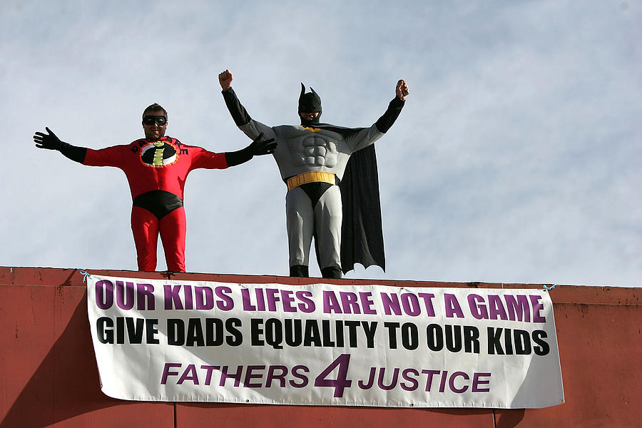 Fathers 4 Justice Stage Protest At World Snooker Championships Photograph by Clive Rose