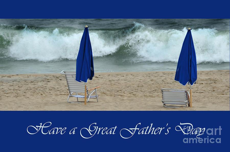 Father Photograph - Fathers Day Card by Randi Grace Nilsberg