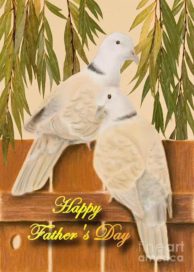 Pigeon Mixed Media - Fathers Day Doves by Jeanette K