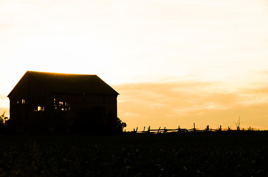 Barn Photograph - Fathers Field by BandC  Photography