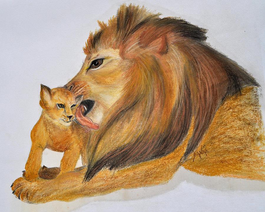 Lion Pastel - Fathers Love by Danae McKillop