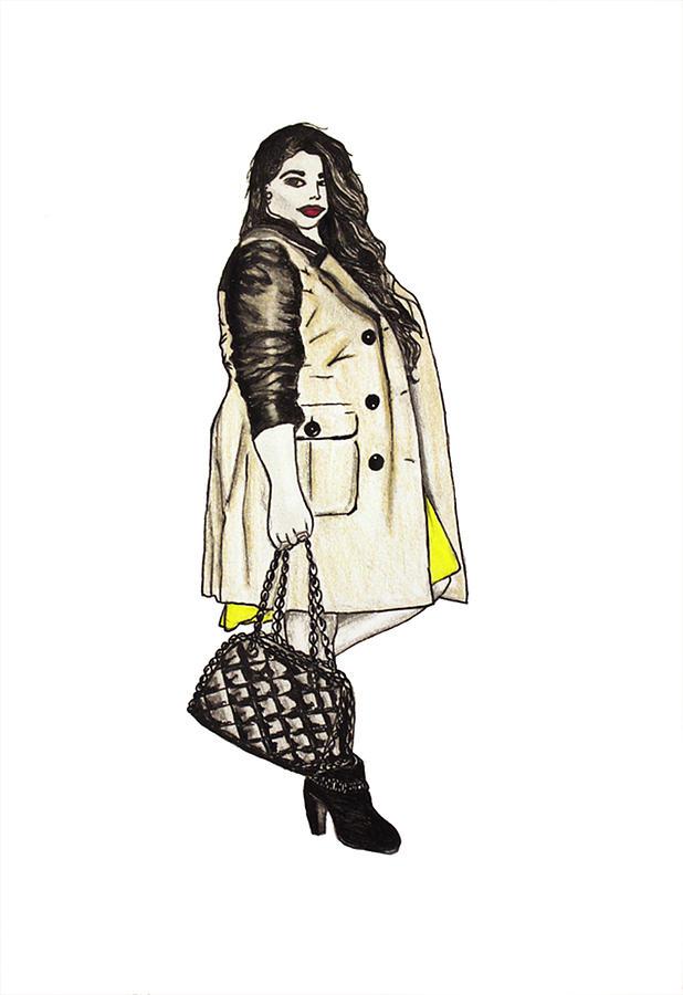 Fashion Mixed Media - Fatshionista #2 by Micaela Shambee