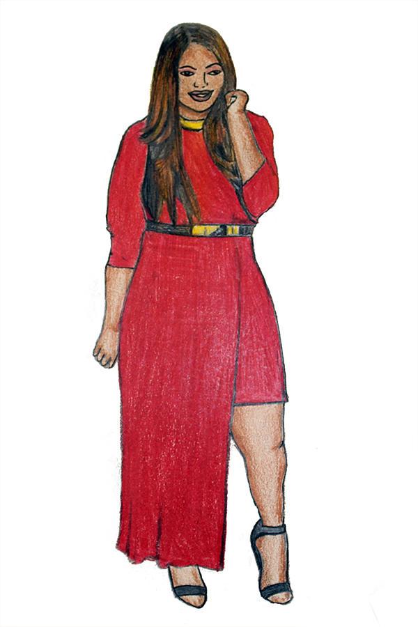 Fashion Mixed Media - Fatshionista #3 by Micaela Shambee