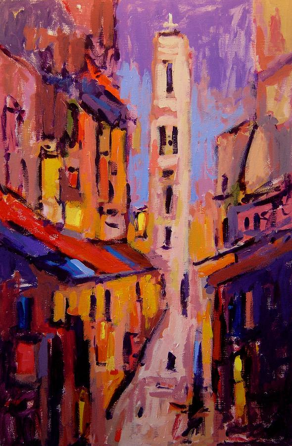 Fauvist Painting - Fauvo Monemvasia by R W Goetting