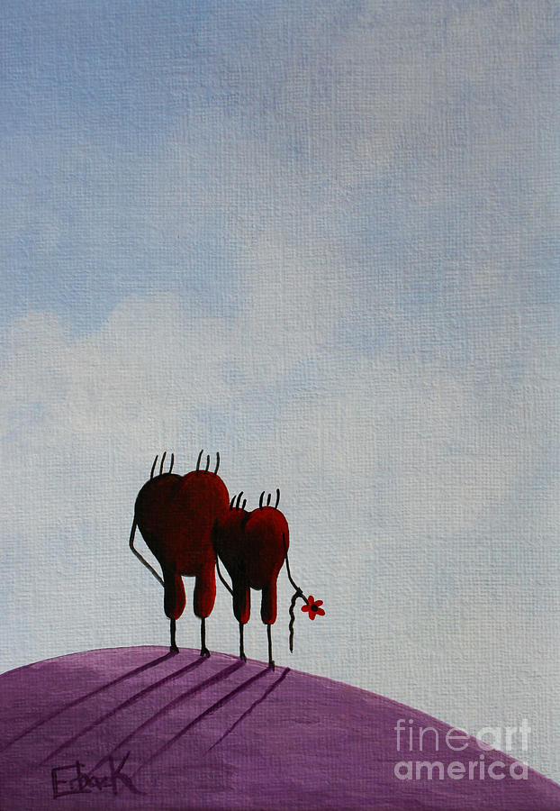Hearts Painting - Favorite Moments by Shawna Erback