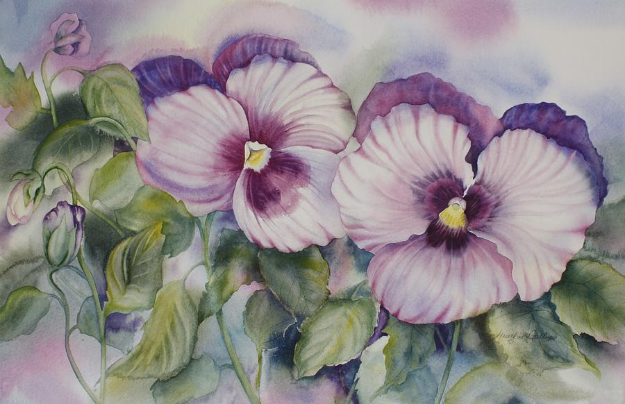 Pansies Painting - Favourite Garden Pansies by Heather Gallup