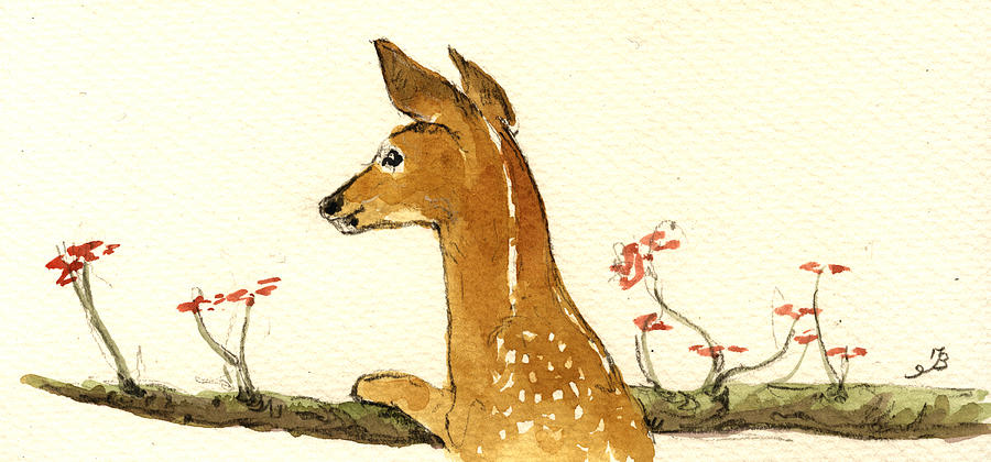 Fawn Painting - Fawn by Juan  Bosco